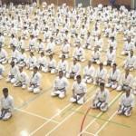 Karate bowing